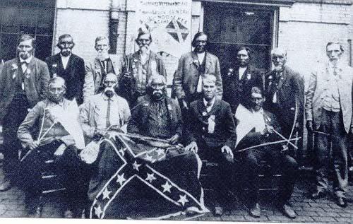 Солдаты Конфедерации из пятипяти племен.