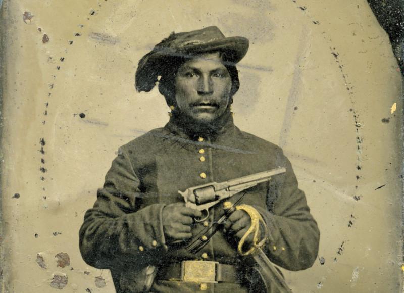 Солдат Конфедерации из пяти племен.