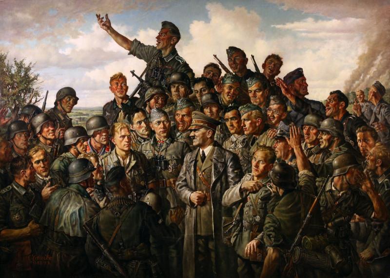 'Гитлер на фронте', картина маслом 1942 года.