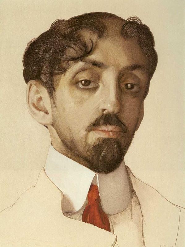 Константин Сомов. Портрет М.А.Кузмина. 1909.jpg