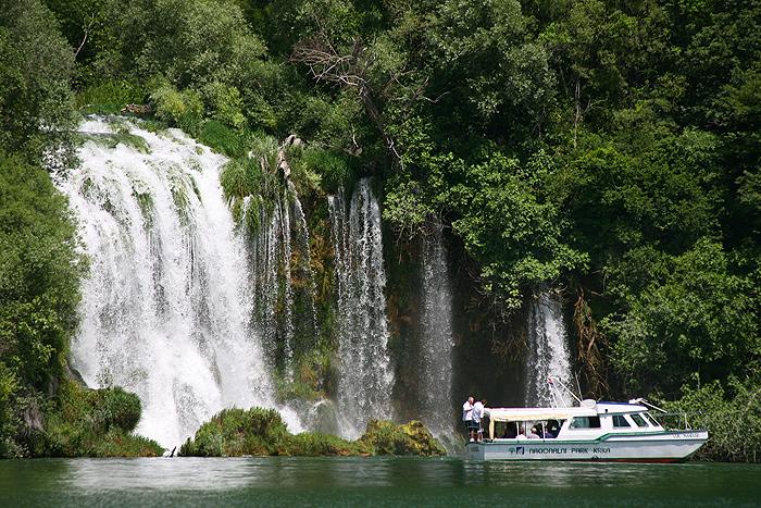 Водопад Roški slap в Национальном парке Крка