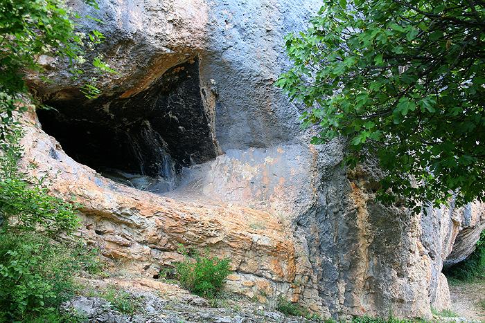 Скальные образования в парке Крка