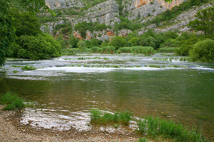 Река Крка - место съемки фильмов о Виннету