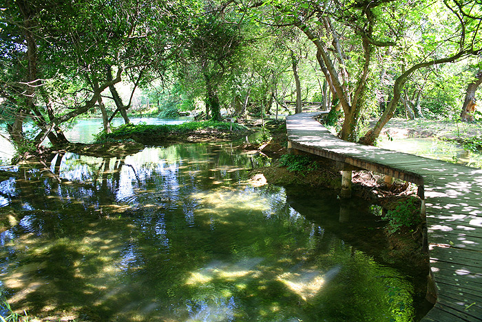 Туристические маршруты в парке Крка