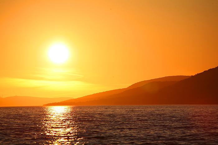 Закат на побережье Адриатики