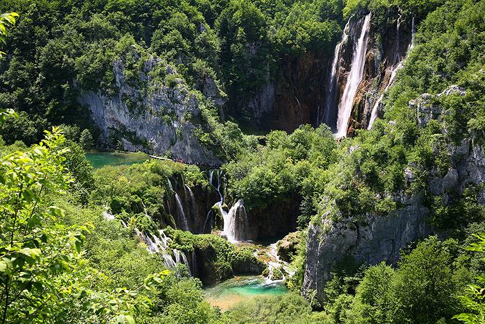 Вид на Большой водопад