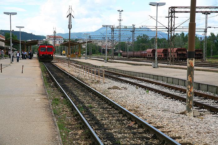 Железнодорожная станция в городе Книн