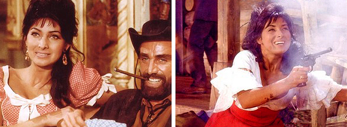 Кадры из фильмов «Среди коршунов» и «Виннету – сын Инчу-Чуна»