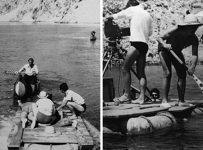 Съемки фильма «Виннету – сын Инчу-Чуна» в каньоне Зрманьи