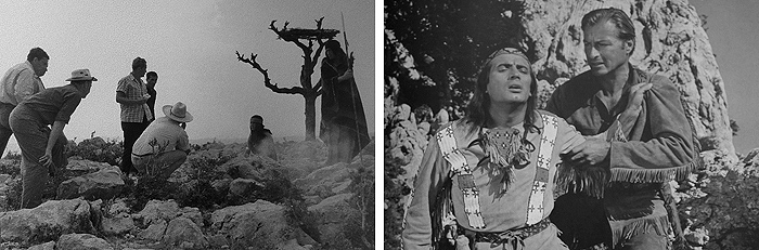 Сцены погребения Клеки-Петры и гибели Виннету на Туловой гряде