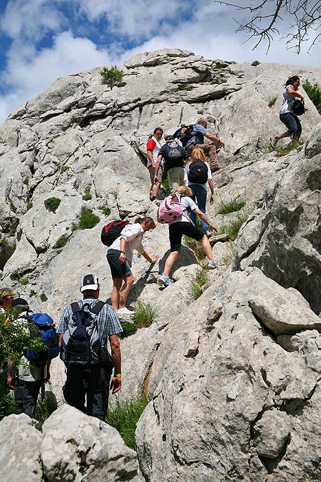 Экстремальный подъем на скалы