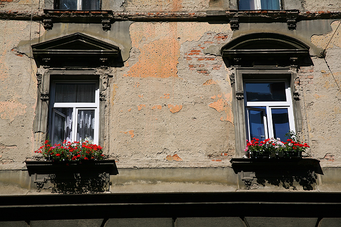 Окна городских домов