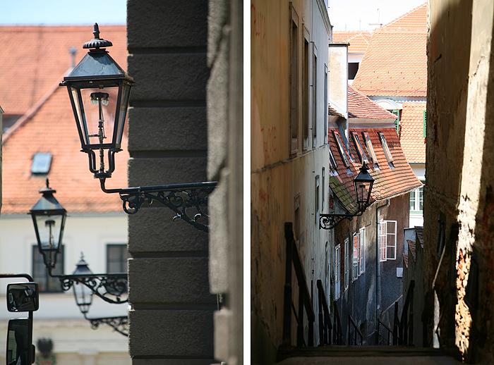 Улицы Верхнего города Загреба