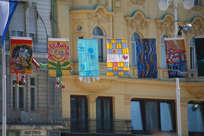 Флажки на площади бана Елачича