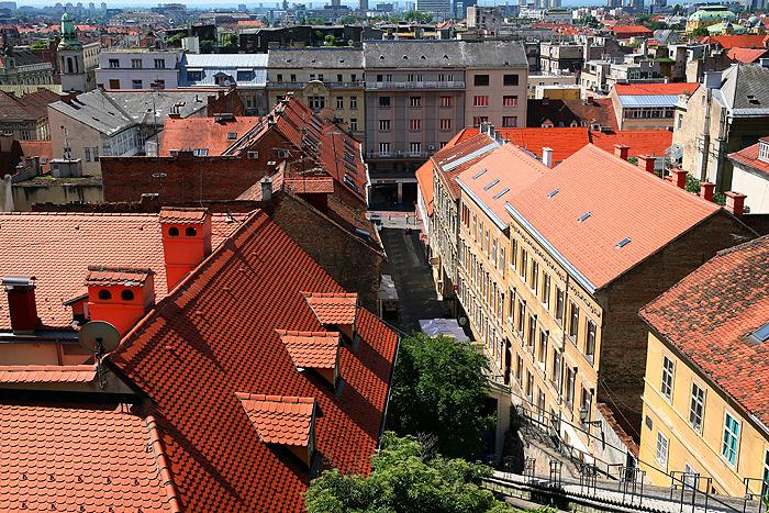 Вид на улицу Илица из Верхнего города