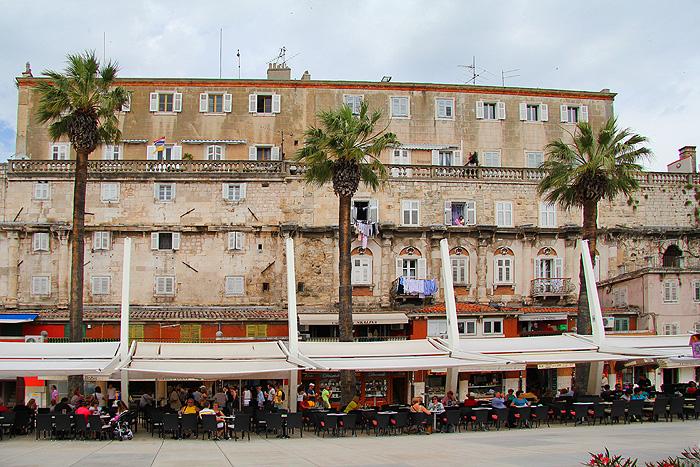 Вид с набережной на дворец Диоклетиана