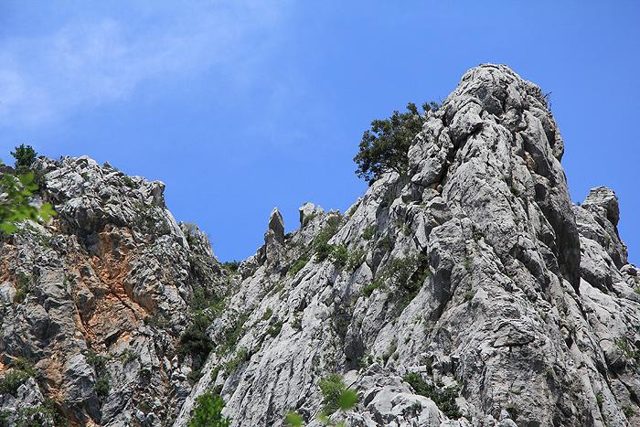 Скалы в ущелье Большая Пакленица