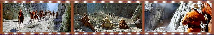 Кадры из фильмов о Виннету, снятых в ущелье Большая Пакленица