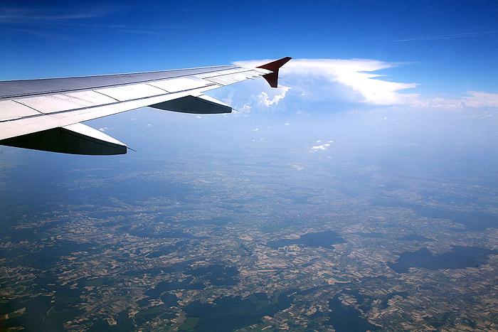 Возвращение в Хорватию. Вид из самолета