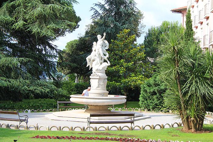 Фонтан в одном из парков Опатии