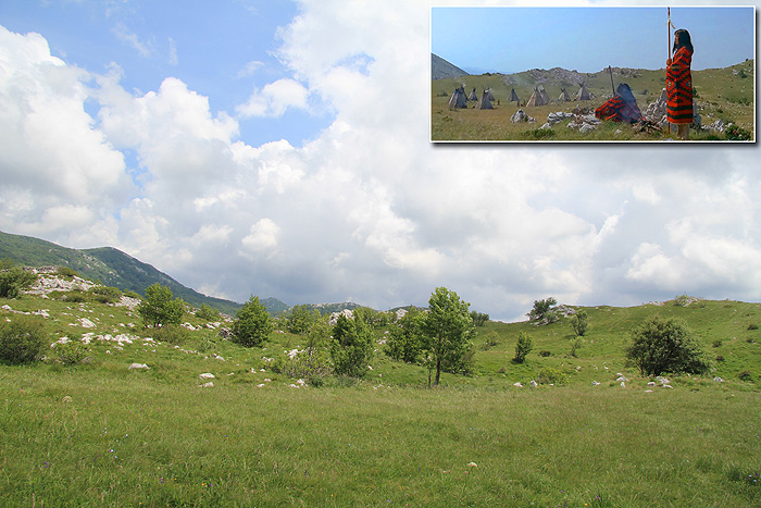 Деревня племени понков в Платаке