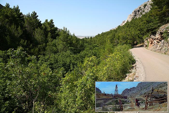 Ущелье Большая Пакленица сегодня и на момент съемок