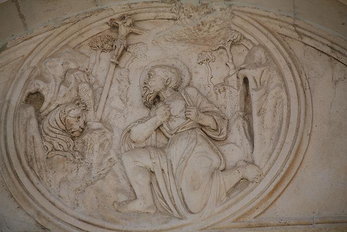 Барельеф с венецианским львом в декоре собора Св. Иакова