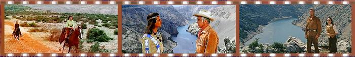 Кадры из фильмов о Виннету, снятых на Зрманьи