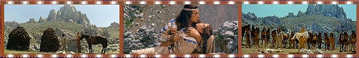 Кадры из фильмов «Виннету - сын Инчу-Чуны» и «Виннету. Часть 3»
