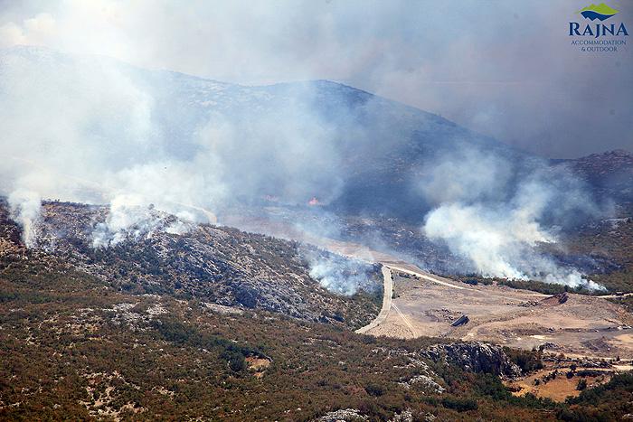 Пожар на склонах Велебита