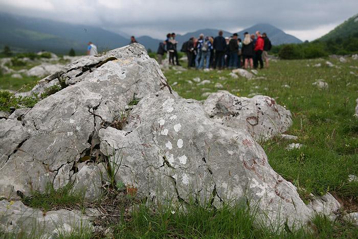 Камни с индейскими символами