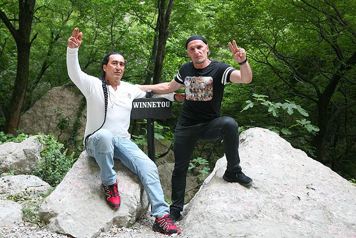 Хорватский статист Эмир Муллер и австрийский музыкант Франц Рюмелин