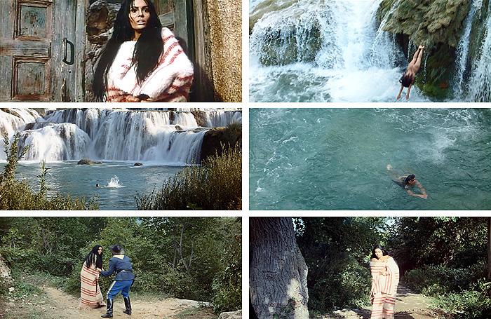 Кадры с Горданой из фильма «Виннету – вождь апачей»