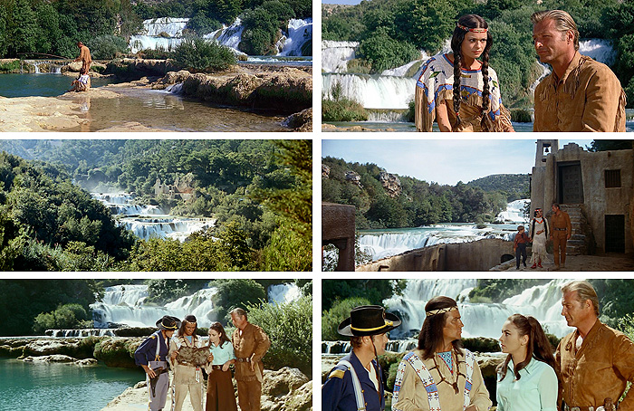 Сцены из фильмов у водопада Скрадински бук