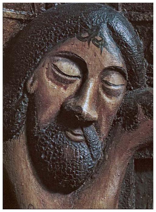поклонный крест. пермь. Голова Христа. Фрагмент.