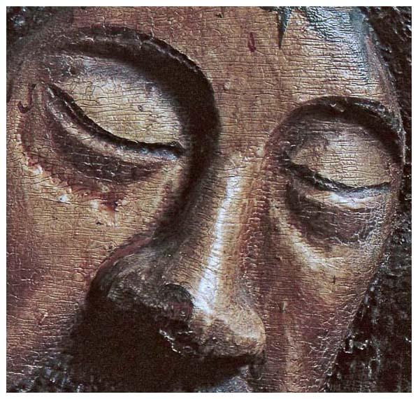 поклонный крест. пермь. фрагмент лица христа