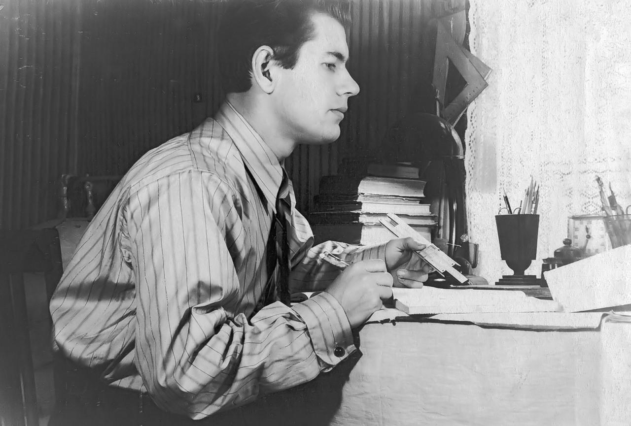 Рудольф Аржанов - советский студент, 1954