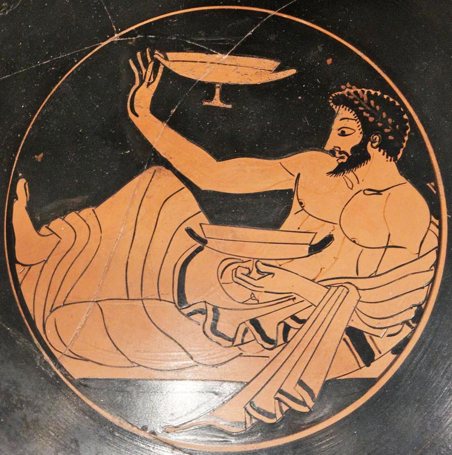 Аттический килик, ок. 500 года до н. э.