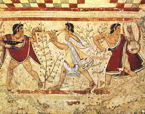 Музыканты из гробницы Триклиния. Тарквиния, 470 год до н.э.