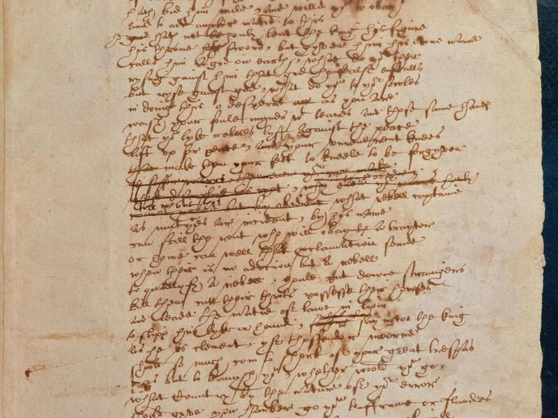 На фото: рукопись Шекспира. Хранится в Британском Музее