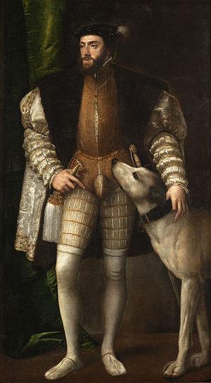 «Портрет Карла V с собакой», Тициан (1532)