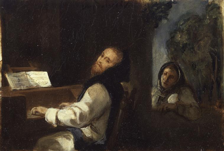 Эжен Делакруа. Карл V в монастыре Юсте