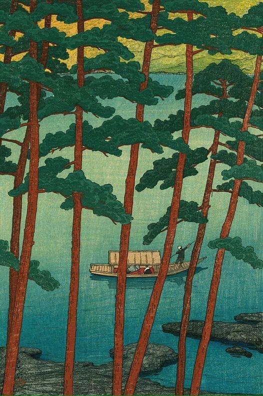 Winter in Arashi, 1921. (Kawase Hasui)