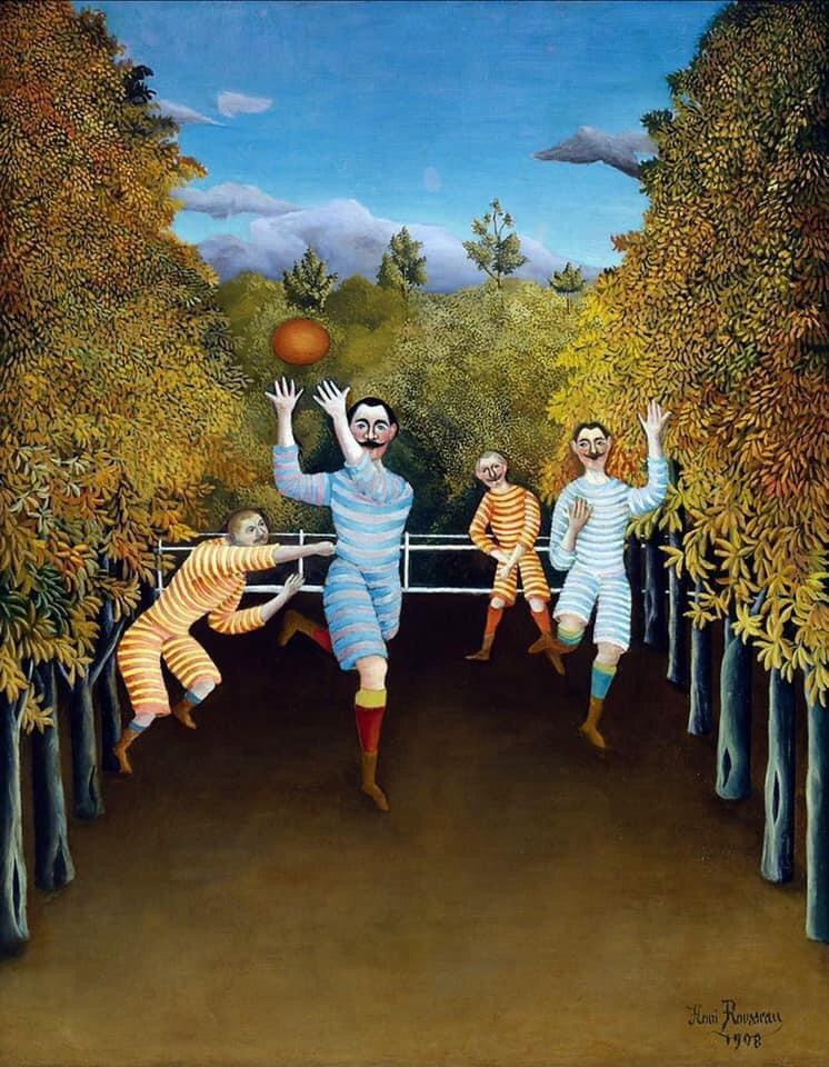 "Анри Руссо, картина маслом ""Игроки в футбол"" (1908)"