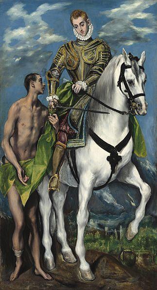 «Святой Мартин делится плащом с нищим», Эль Греко