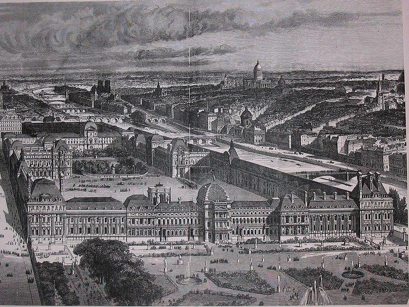 Дворец Тюильри в Париже (сгорел в 1871 году)