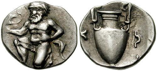 Серебряный обол с Тасоса, 411-350 гг. до н. э