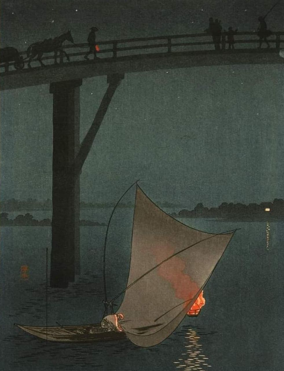Ёсимунэ Арайи (Yishimune Arai, 1873 — 1945), «Рыбацкая лодка»