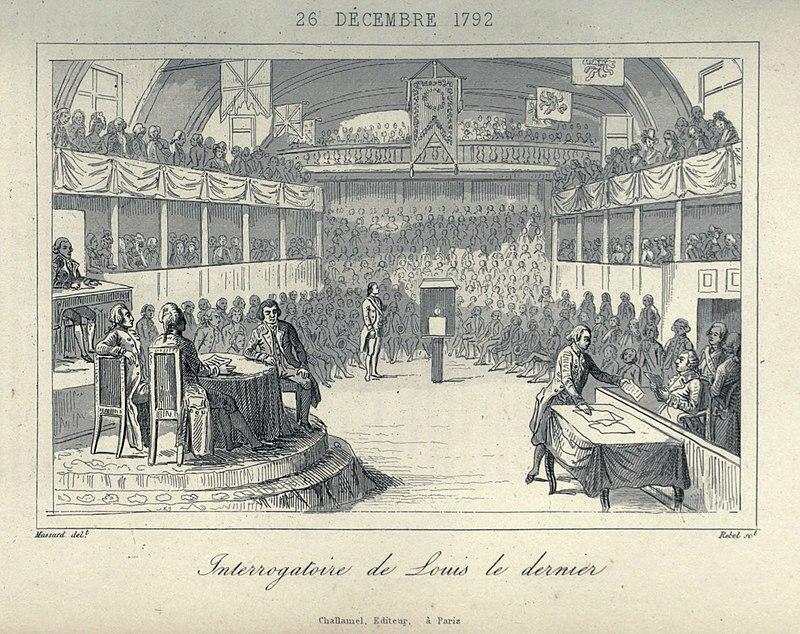 Суд над Людовиком XVI в Конвенте.