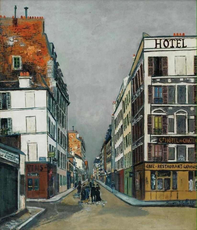 Maurice Utrillo (1883 — 1955) Rue Philippe-de-Girard a Paris, 1919